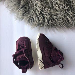 Maroon Baby Jordan Sneakers